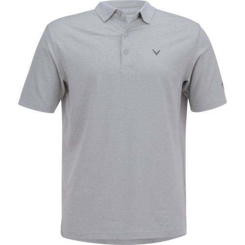 Callaway Men's Short Sleeve Opti-Soft Golf Performance Heather Printed Stripe Polo Shirt
