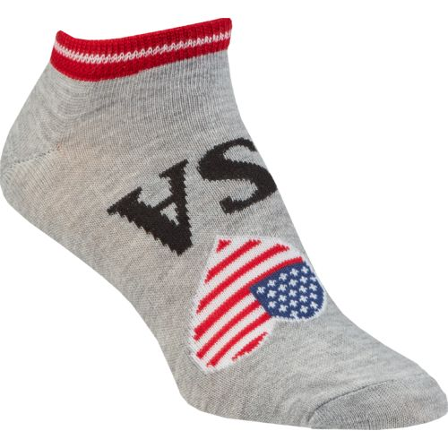 BCG Women's I Love USA No-Show Socks