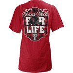 Three Squared Juniors' Texas Tech University Team For Life Short Sleeve V-neck T-shirt - view number 1
