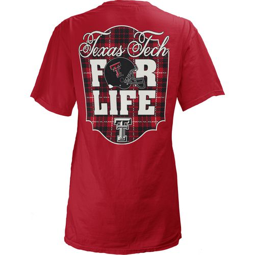Three Squared Juniors' Texas Tech University Team For Life Short Sleeve V-neck T-shirt