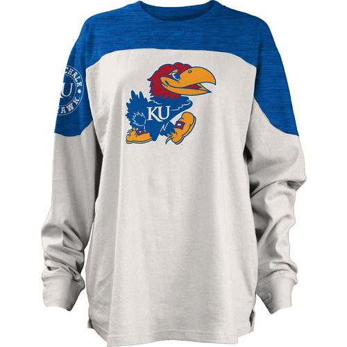 Three Squared Juniors' University of Kansas Cannondale Long Sleeve T-shirt