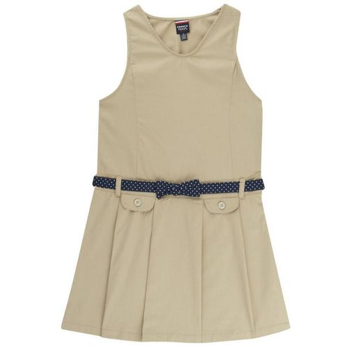 French Toast Girls' Signature Dot Collection Bow Belted Jumper - view number 1