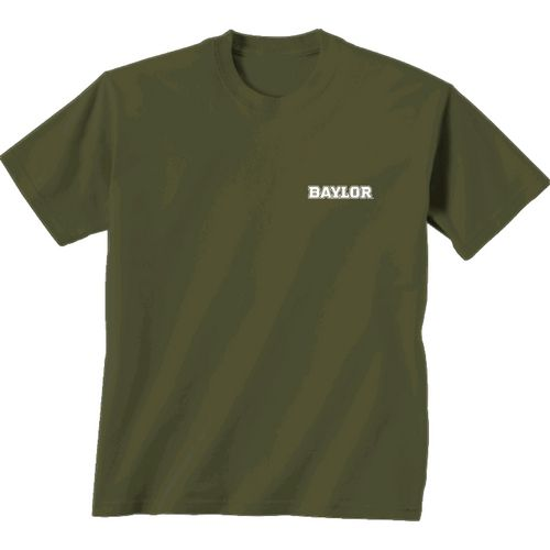 New World Graphics Women's Baylor University Comfort Color Initial Pattern T-shirt - view number 2