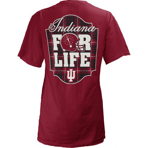 Three Squared Juniors' Indiana University Team For Life Short Sleeve V-neck T-shirt