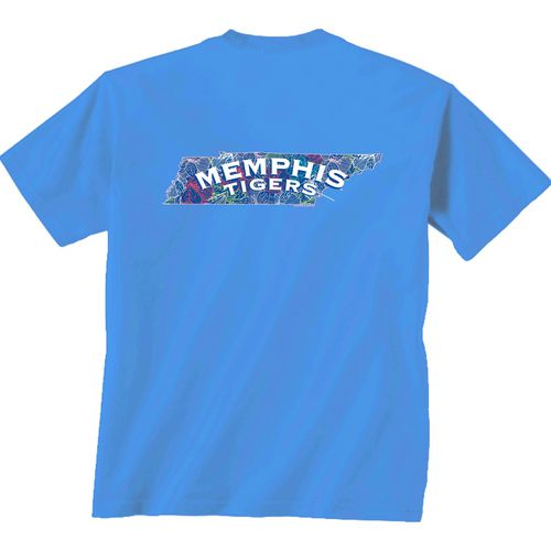 New World Graphics Women's University of Memphis Comfort Color Puff Arch T-shirt