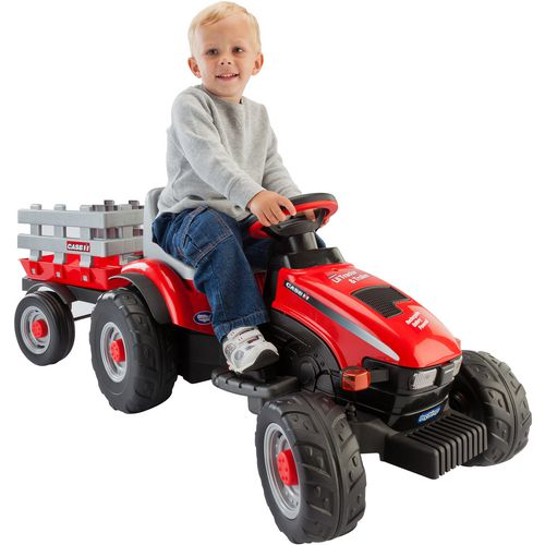 Peg Perego Case IH Lil Tractor and Trailer 6 V Ride-On Vehicle