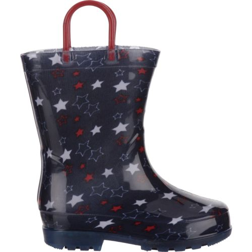 Austin Trading Co. Toddler Girls' Stars Light-Up PVC Boots