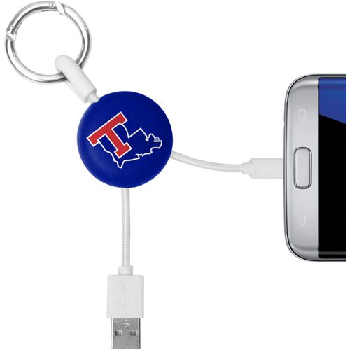 Mizco Louisiana Tech University Micro Phone Charger Keychain Cable