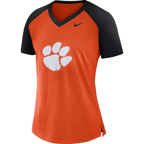 Nike Women's Clemson University Fan V-neck Top