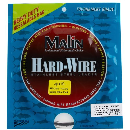 Malin Stainless-Steel#7/80lb. Coffee 42' Hard Wire