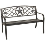Mosaic Rustic Star Bench