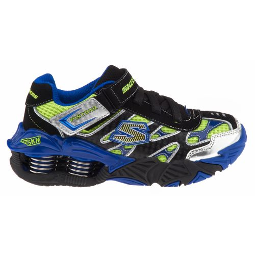 SKECHERS Boys' Pistonz Gore and Strap 4-Spring Sneakers