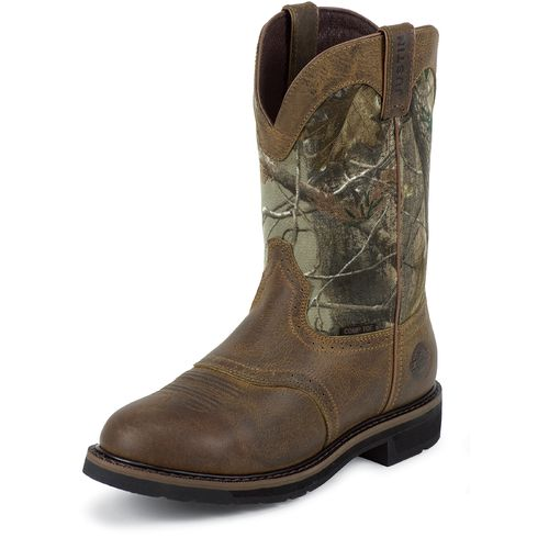 Justin Men s Original Stampede Collection Work Boots