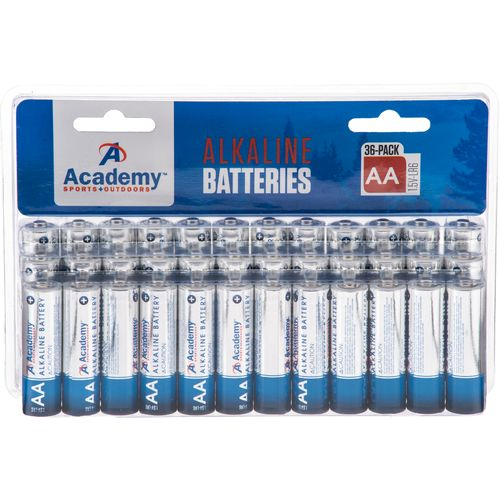 Academy Sports + Outdoors™ AA Alkaline Batteries 36-Pack
