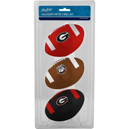 Rawlings® University of Georgia 3rd Down Softee Footballs 3-Pack