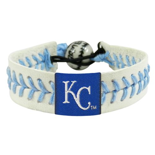GameWear Adults' Kansas City Royals Genuine Baseball Leather Bracelet
