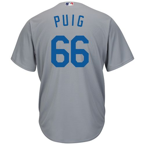 Majestic Men's Los Angeles Dodgers Yasiel Puig #66 Cool Base® Replica Jersey