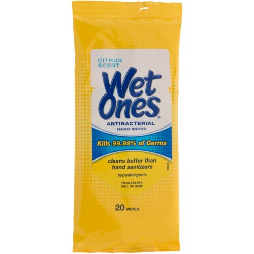 Wet Ones® Citrus Antibacterial Wipes 20-Pack