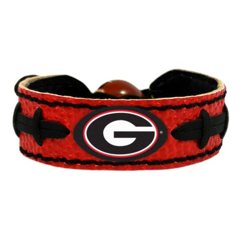 GameWear University of Georgia Power G Logo Team Color Football Bracelet