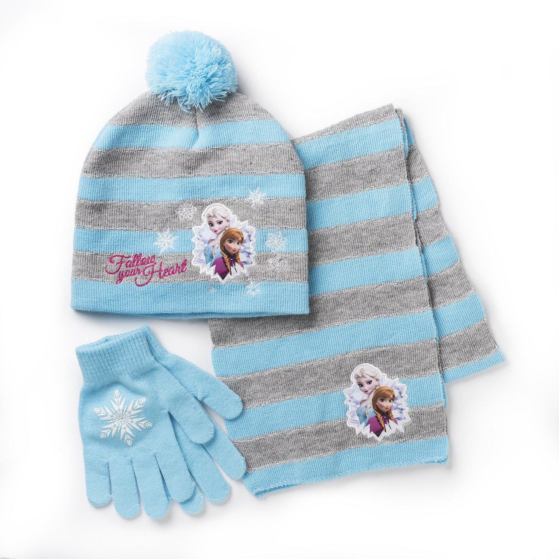 Disney Girls' Frozen Cold Weather Hat and Glove