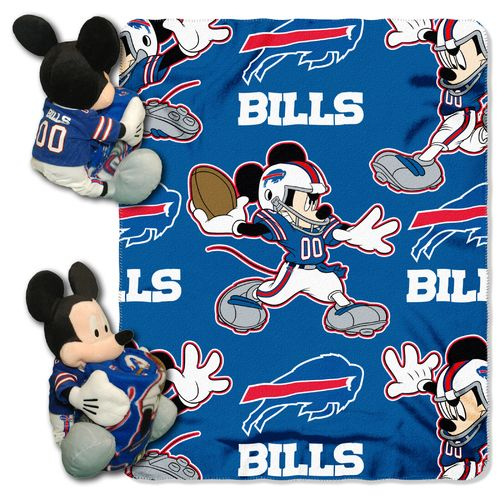 The Northwest Company Buffalo Bills Mickey Mouse Hugger and Fleece Throw Set