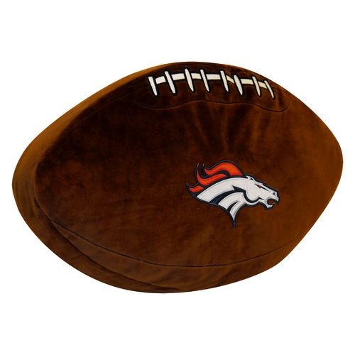 The Northwest Company Denver Broncos Football Shaped Plush Pillow