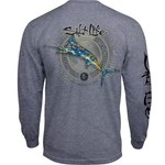 Salt Life Men's Camo Marlin Long Sleeve T-shirt