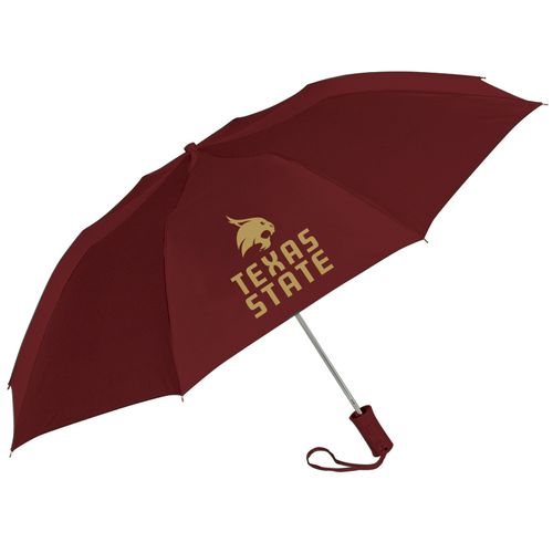 Storm Duds Texas State University 42' Super Pocket Mini Folding Umbrella