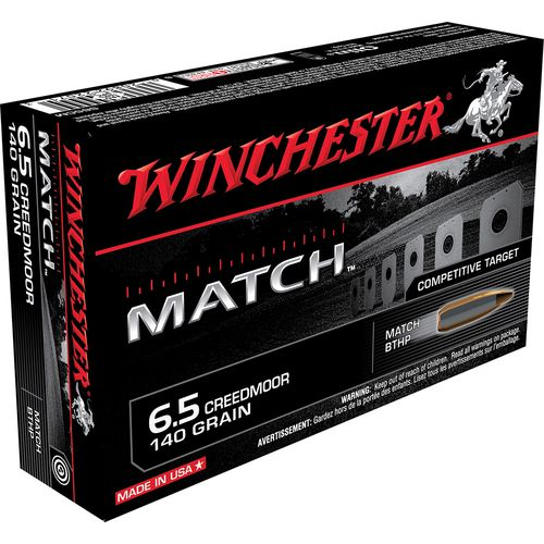 Winchester Match 6.5mm Creedmoor 140-Grain Boat Tail HP Centerfire Rifle Ammunition
