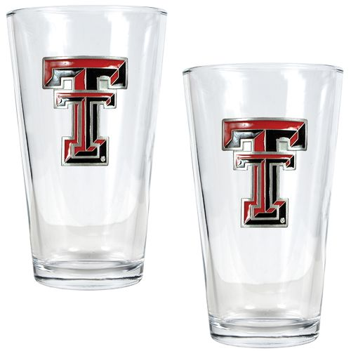 Great American Products Texas Tech University 16 oz. Pint Glasses 2-Pack
