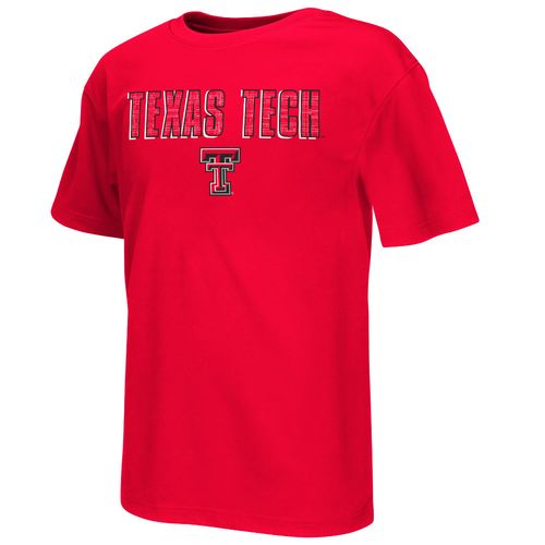 Colosseum Athletics Boys' Texas Tech University Circuit Board T-shirt