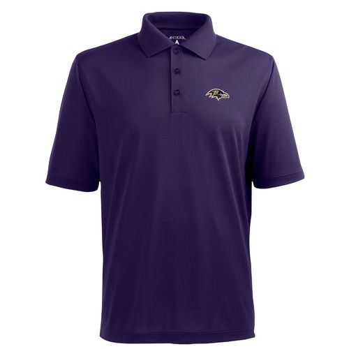 Antigua Men's Baltimore Ravens Piqué Xtra-Lite Polo Shirt