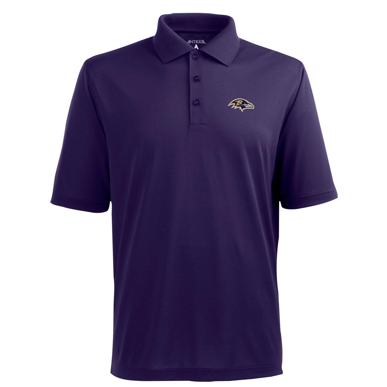 Antigua Men's Baltimore Ravens Piqué Xtra-Lite Polo Shirt