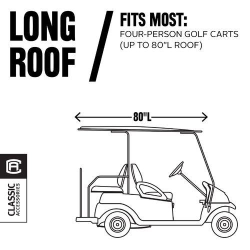 Classic Accessories Deluxe Long Roof Golf Cart Enclosure - view number 8