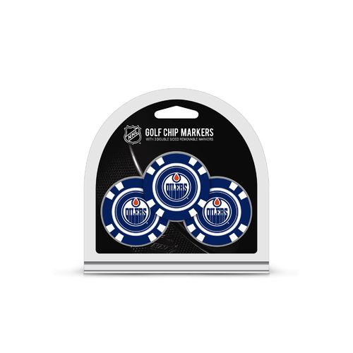 Team Golf Edmonton Oilers Poker Chip and Golf Ball Marker Set - view number 1
