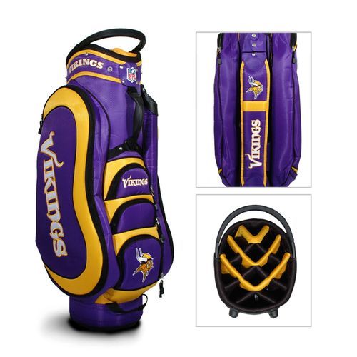 Team Golf Minnesota Vikings Medalist 14-Way Golf Cart Bag