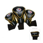 Team Golf Pittsburgh Steelers Contour Sock Head Covers 3-Pack
