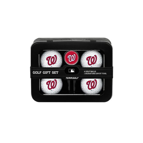 Team Golf Washington Nationals 4-Ball Tin Gift Set