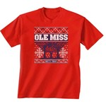 New World Graphics Women's University of Mississippi Ugly Sweater T-shirt