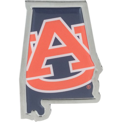 Stockdale Auburn University Chrome State Shape Auto Emblem