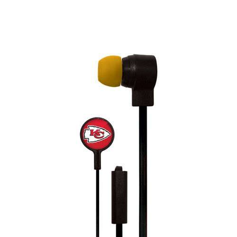 Mizco Kansas City Chiefs Big Logo Earbuds