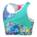Capezio® Girls' Future Star Falling Geo Printed Racerback Bra Top