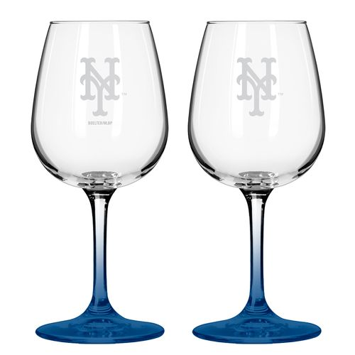Boelter Brands New York Mets 12 oz. Wine Glasses 2-Pack