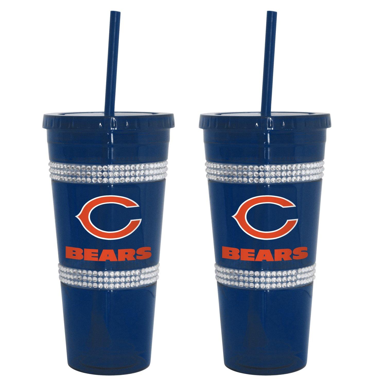 Boelter Brands Chicago Bears 22 oz. Bling Straw
