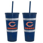 Boelter Brands Chicago Bears 22 oz. Bling Straw Tumblers 2-Pack - view number 1