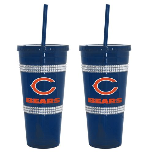 Boelter Brands Chicago Bears 22 oz. Bling Straw Tumblers 2-Pack