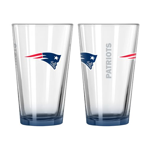Boelter Brands New England Patriots Elite 16 oz. Pint Glasses 2-Pack