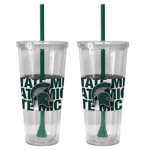 Boelter Brands Michigan State University Bold Neo Sleeve 22 oz. Straw Tumblers 2-Pack