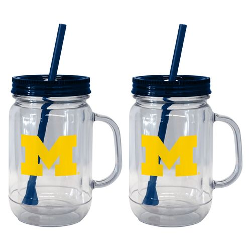 Boelter Brands University of Michigan 20 oz. Handled Straw Tumblers 2-Pack