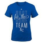 Majestic Girls' Kansas City Royals Root Root Short Sleeve T-shirt